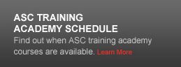 ASC Training Academy Schedule